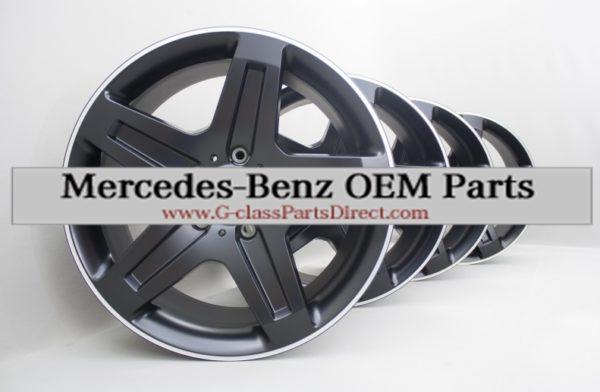 Mercedes benz amg set of alloy wheels r19 w463 black mat for Mercedes benz amg alloy wheels
