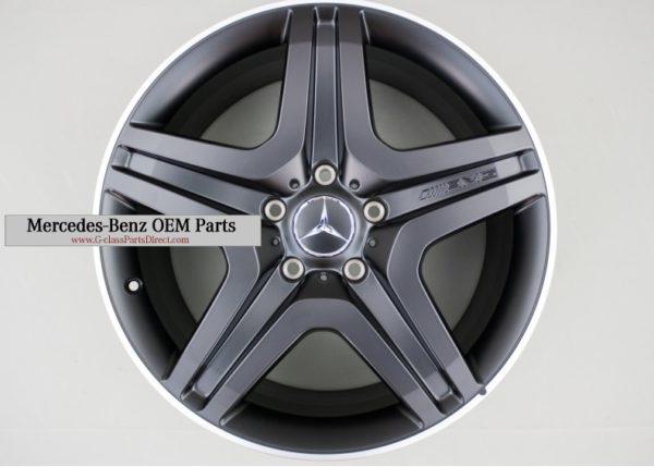 Mercedes benz amg set of alloy wheels mat black r20 w463 for Mercedes benz amg alloy wheels