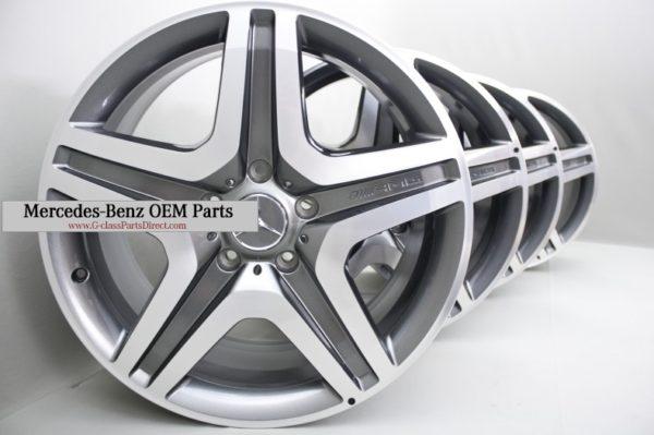 Mercedes benz amg set of alloy wheels titanium grey r20 for Mercedes benz amg alloy wheels