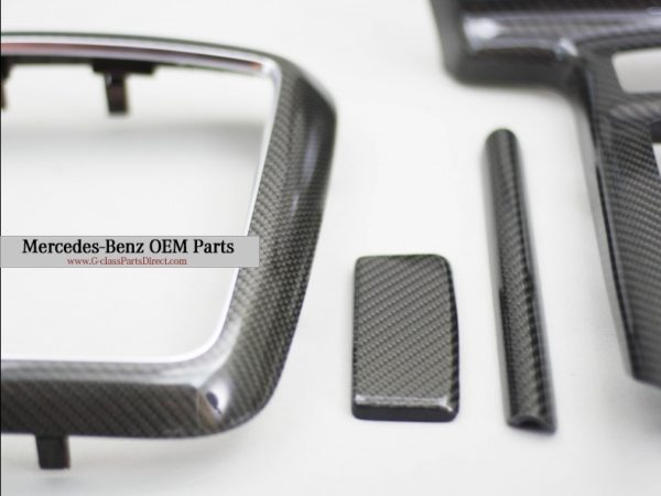 Mercedes benz carbon interior set trim for w463 g mercedes g class parts for Mercedes benz interior trim parts