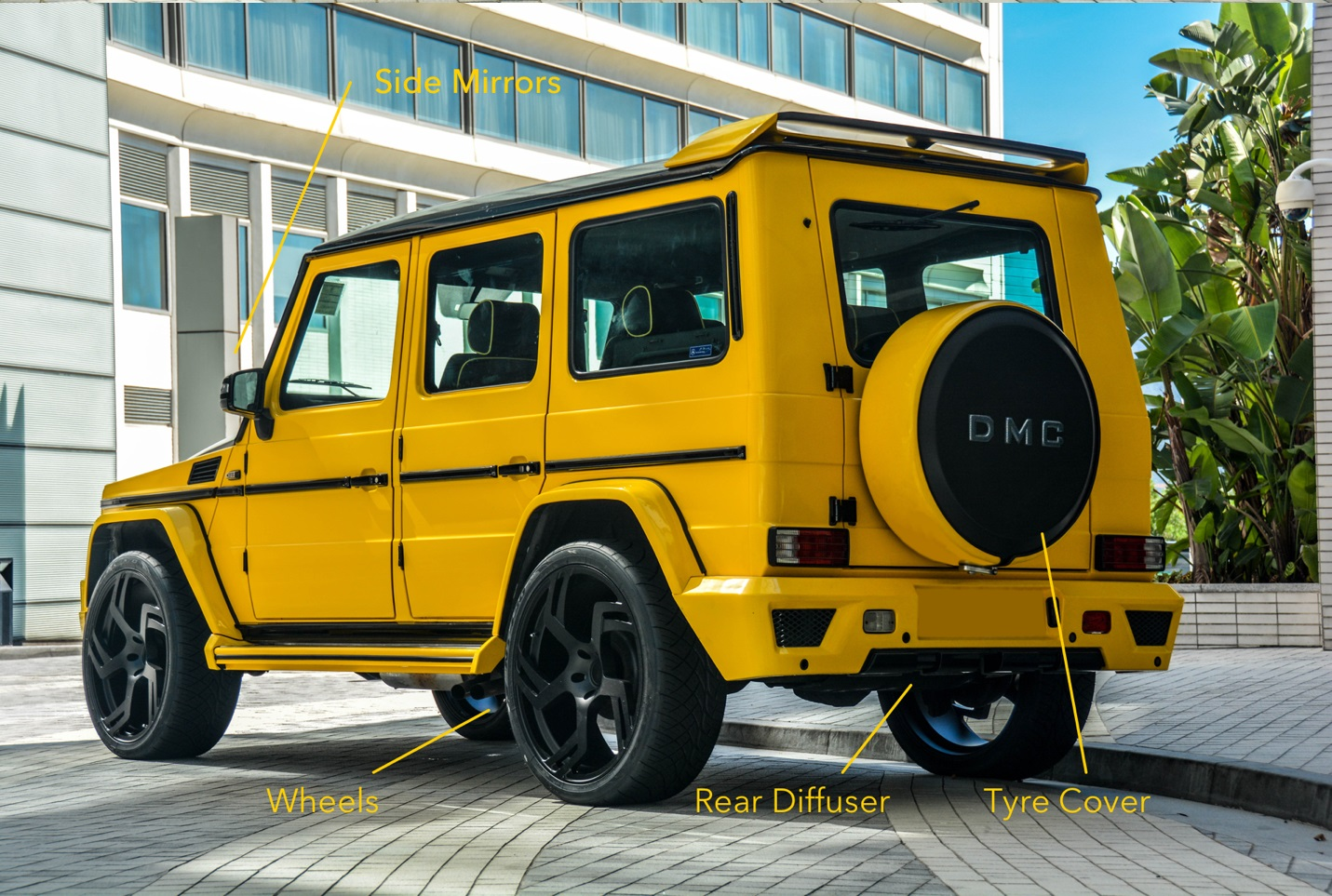 Dmc mercedes benz g wagon carbon fiber g for Mercedes benz g class parts