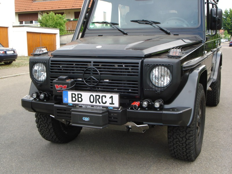 Winch bumper G 460/461/PUR/Professional and G 463 with serial bolt in  original bumper